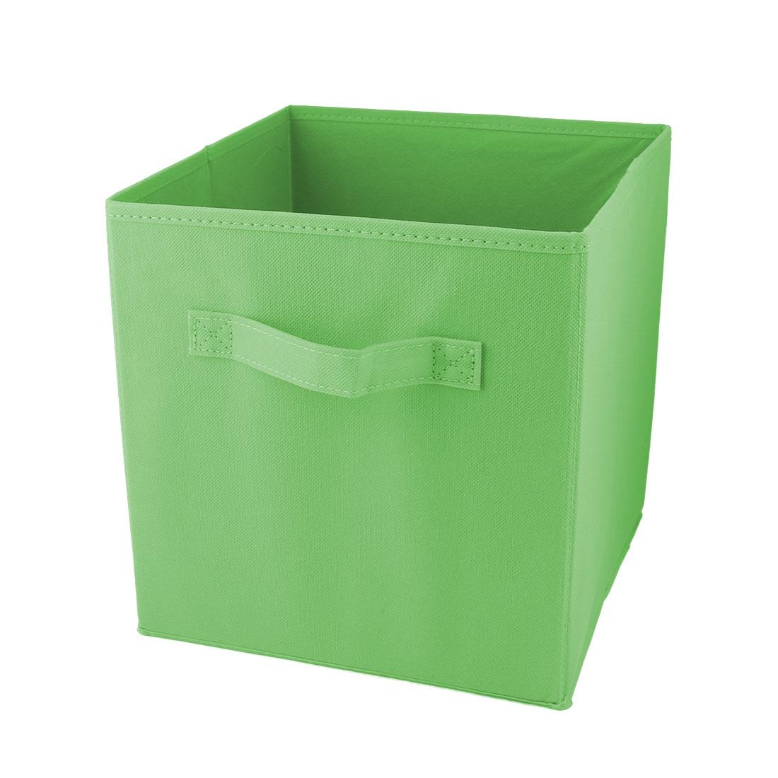 Apartment Non-woven Fabric Foldable Books Cosmetics Holder Storage Box Green