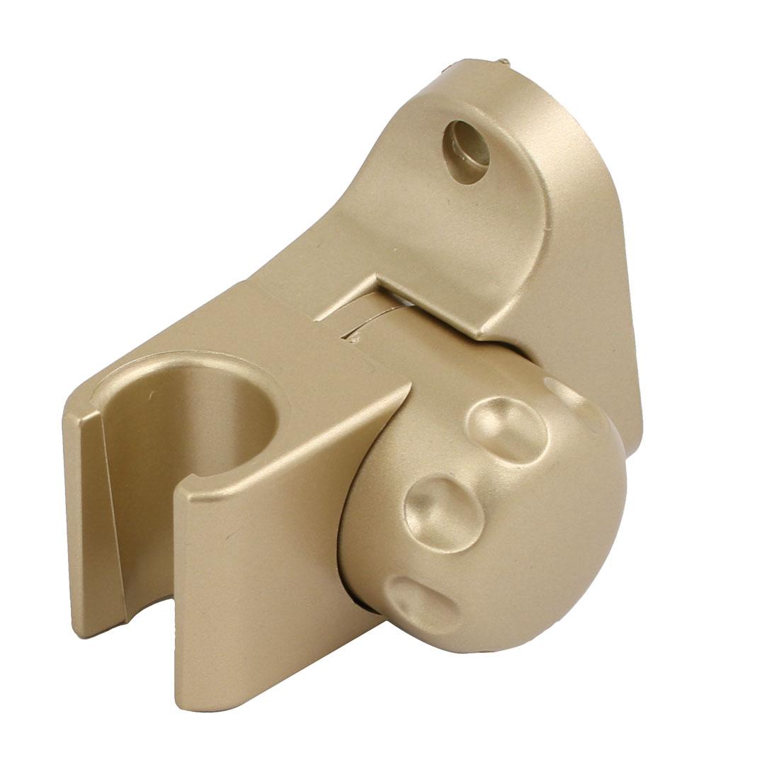 Bathroom Adjustable ABS Chrome Plated Handheld Shower Head Holder Gold Tone