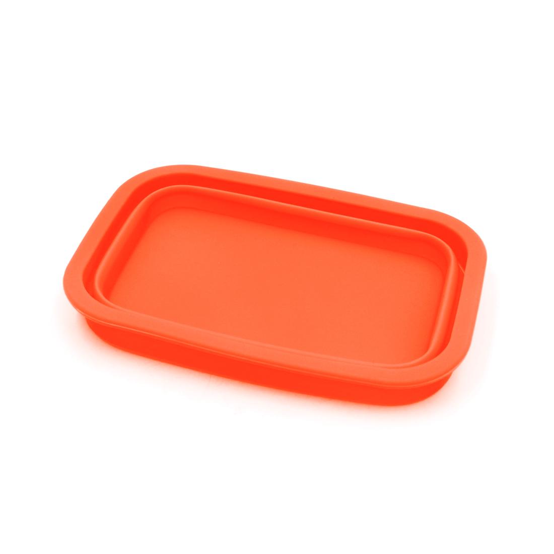 Orange Silicone Retangle Shaped Car Dashboard Non-Slip Phone Holder Storage Box