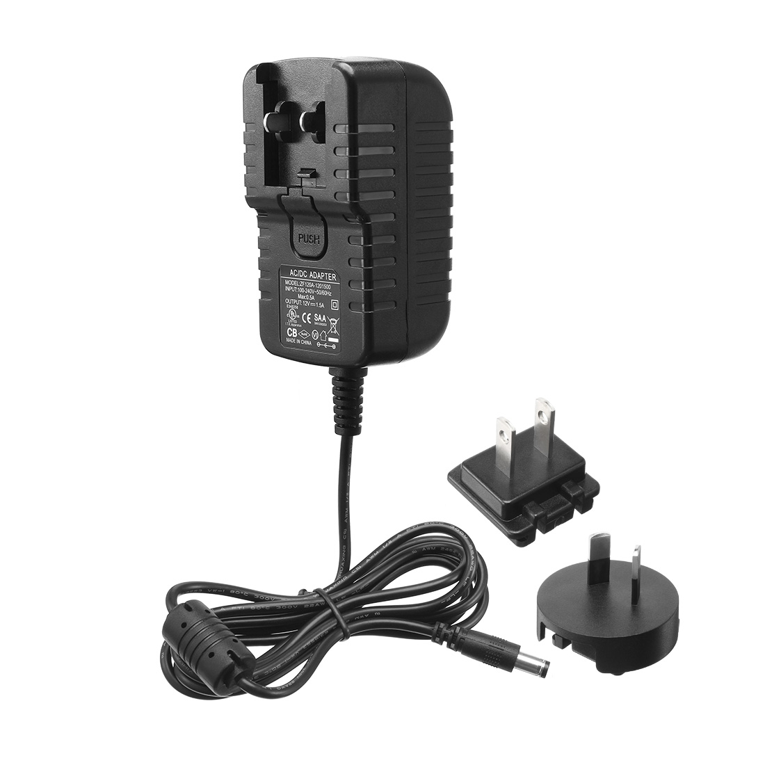 AC 100-240V to DC 12V 1.5A Power Charger w AU US Plugs