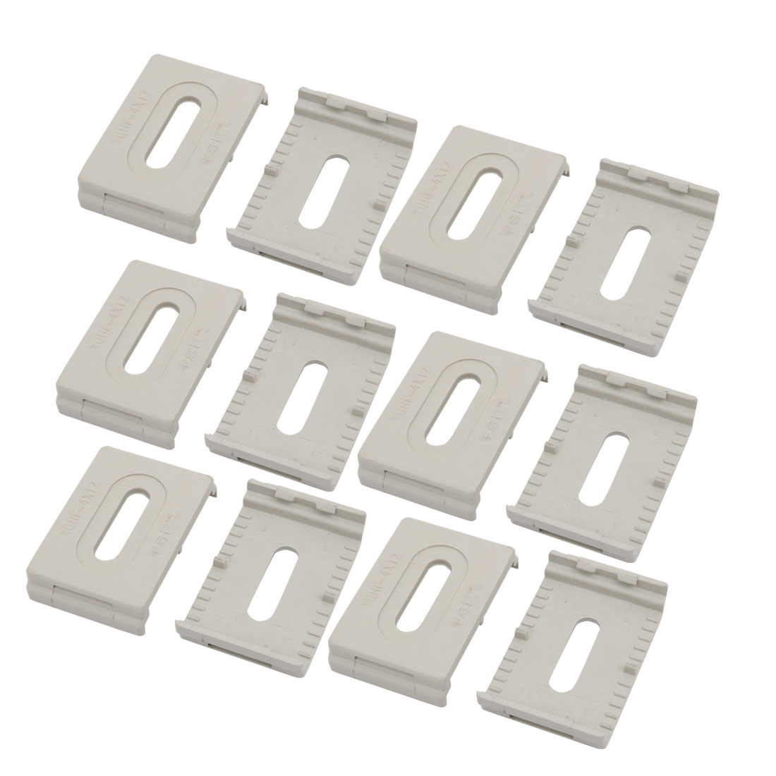 12 Pcs Plastic 60x40x12mm Cable Line Holder Wire Organizer Grey for Office