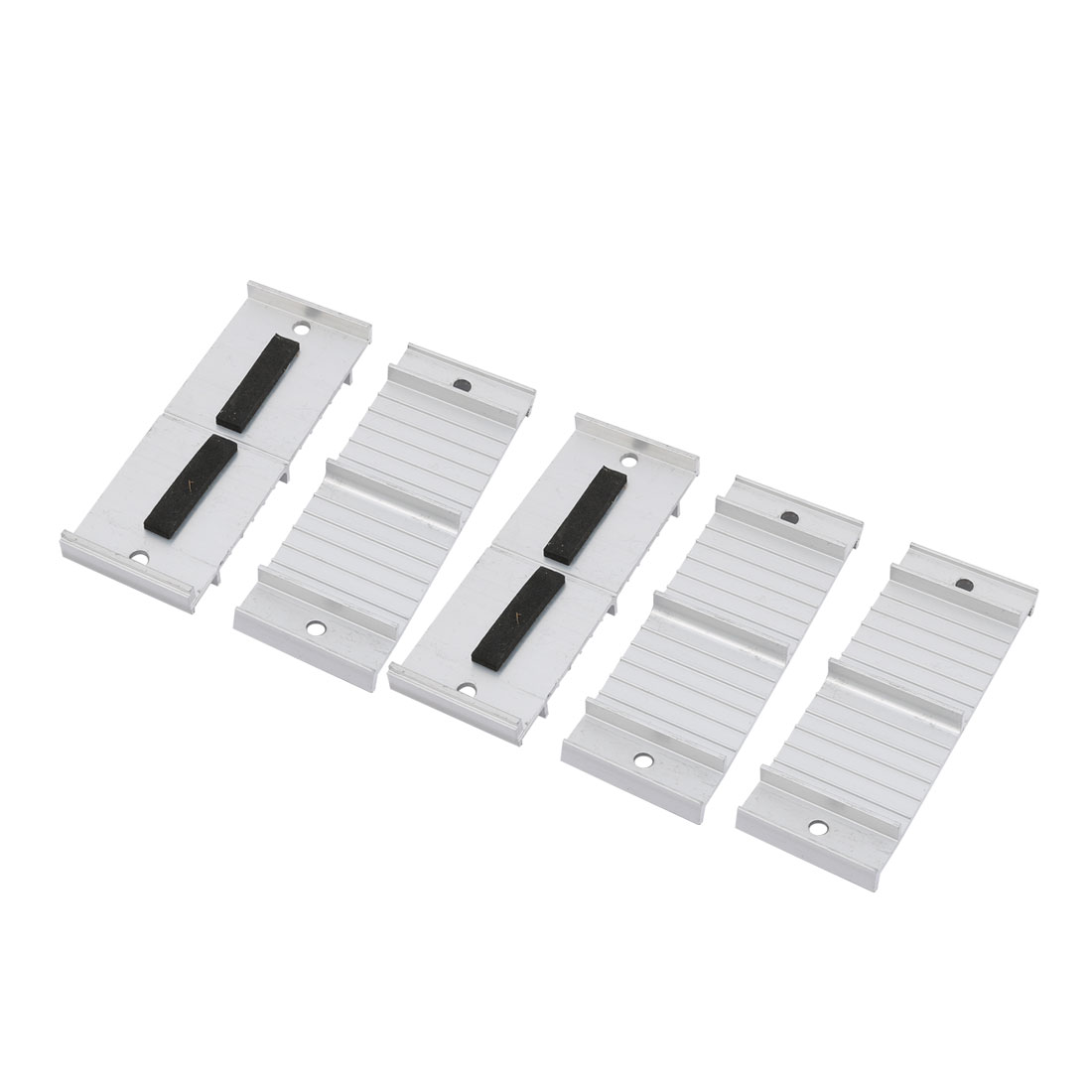 5Pcs Aluminum Alloy 105mmx40mmx15mm Cable Holder Wire Organizer for Home Office