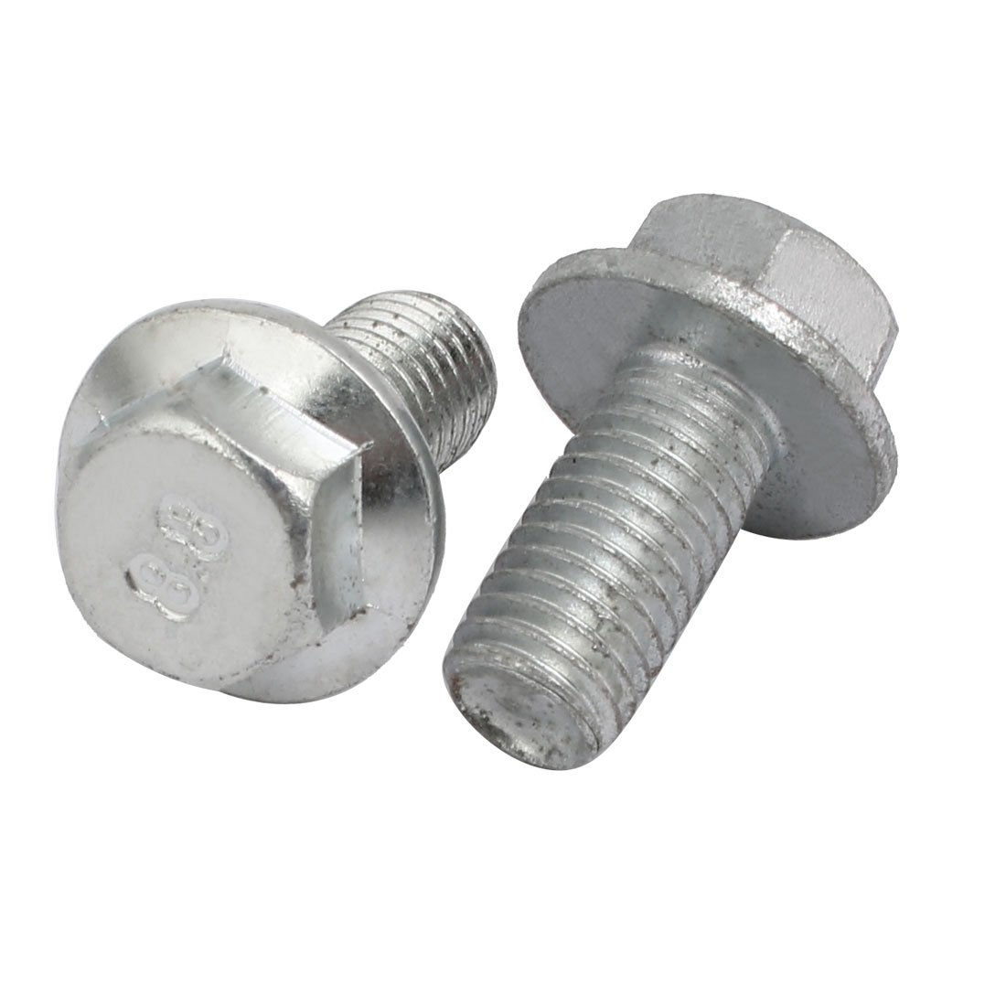 M10x20mm 8.8 Grade Carbon Steel Flange Hex Head Left Hand Thread Bolt 2pcs