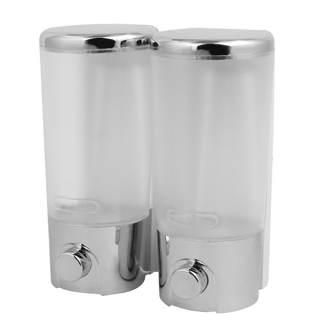 ABS Plastic Chrome Plated Wall Mount Double Chember Soap Dispenser, 13OZ Each