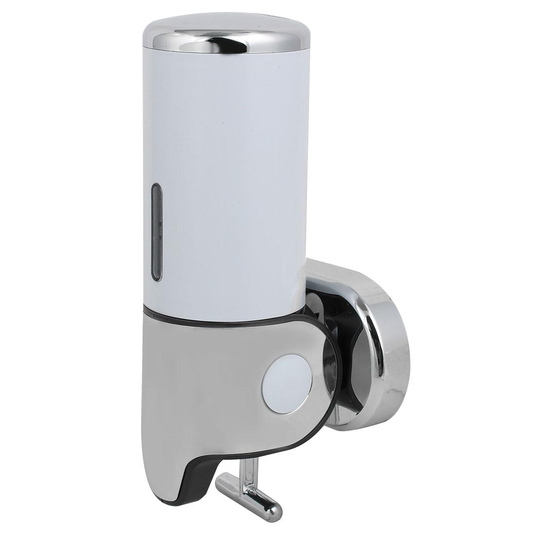 17 oz Capacity ABS Plastic Wall Mount Single Chember Soap Dispenser White