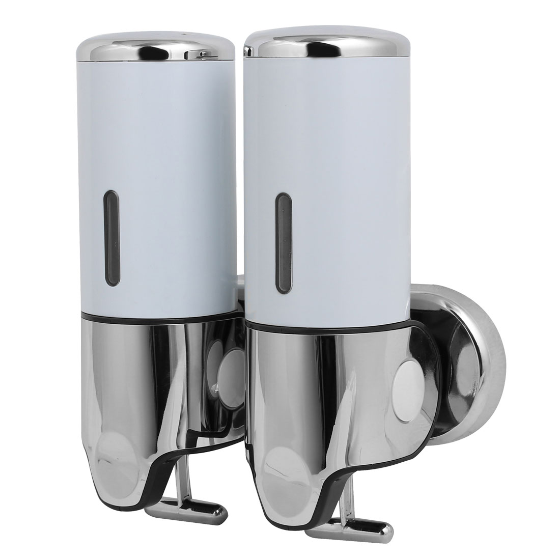 ABS Plastic Wall Mount Double Chember Soap Dispenser White, 17 oz Each Capacity