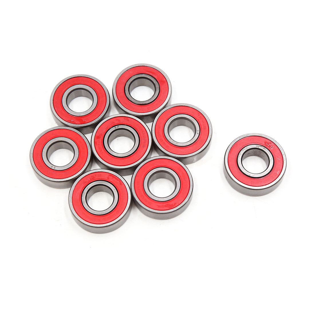 8pcs 6203-2RS Scooter Motorcycle Sealed Deep Groove Ball Bearing 40 x 17 x 12mm