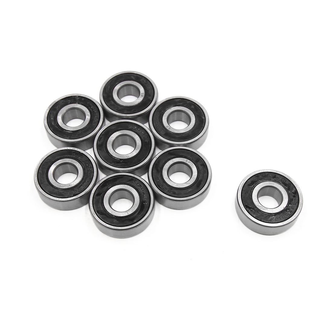 8pcs 6302-2RS Scooter Motorcycle Sealed Deep Groove Ball Bearing 42 x 15 x 13mm
