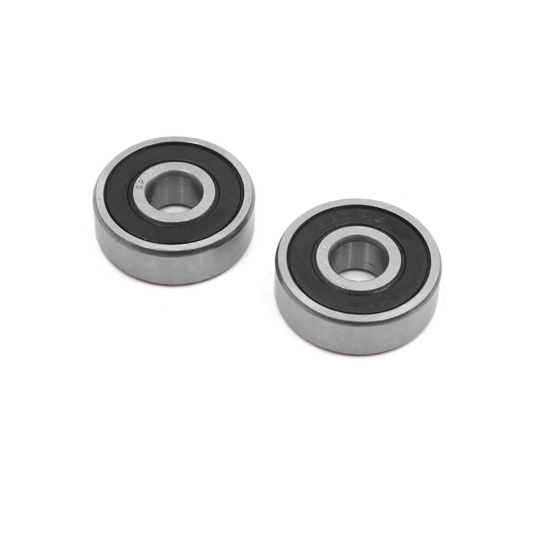 2pcs 6301-2RS Scooter Motorcycle Sealed Deep Groove Ball Bearing 37 x 12 x 12mm