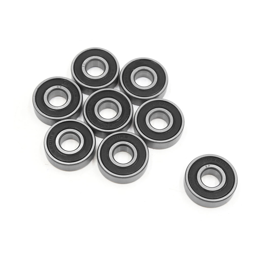 8pcs 6201-2RS Scooter Motorcycle Sealed Deep Groove Ball Bearing 32 x 12 x 10mm