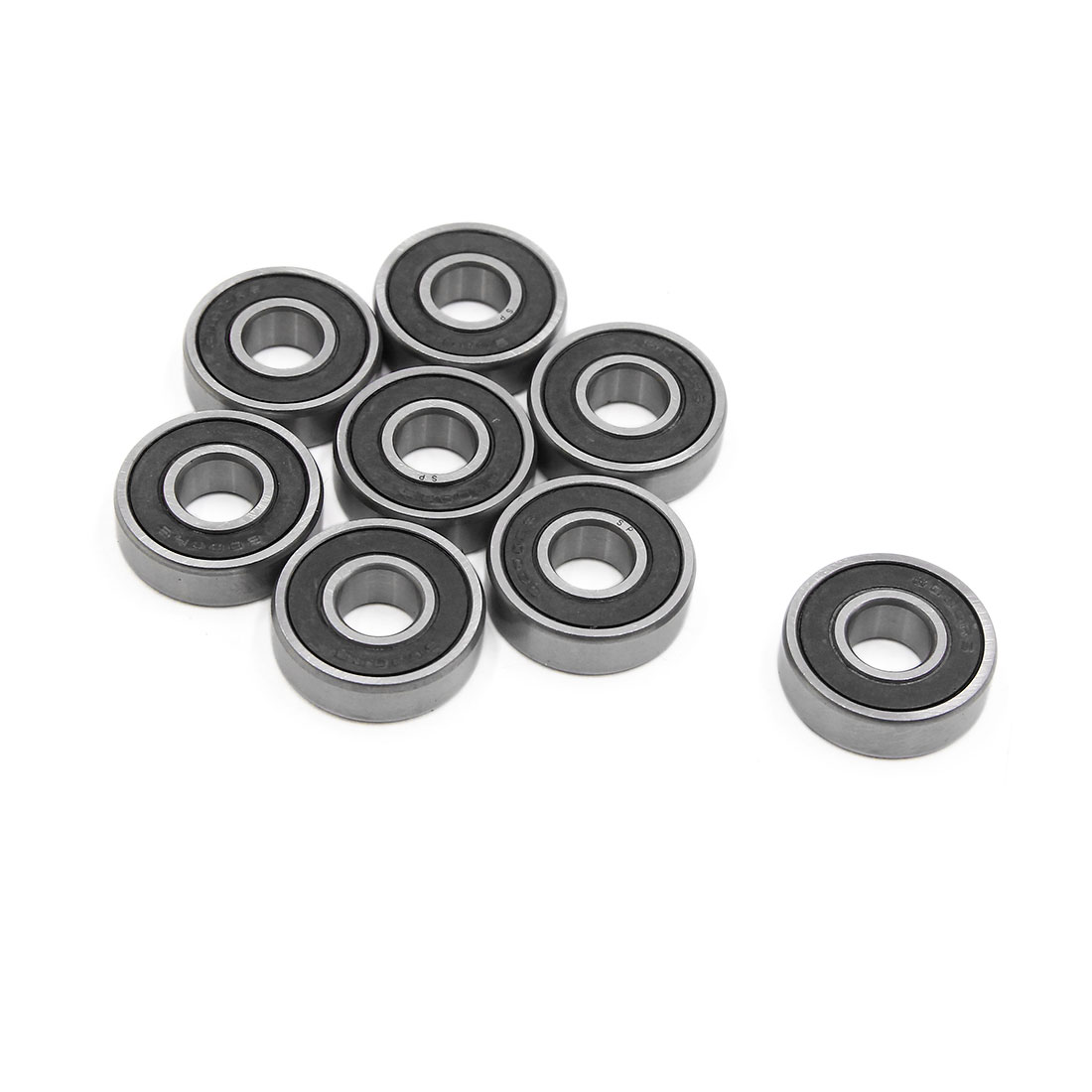 8pcs 6000-2RS Scooter Motorcycle Sealed Deep Groove Ball Bearing 26 x 10 x 8mm