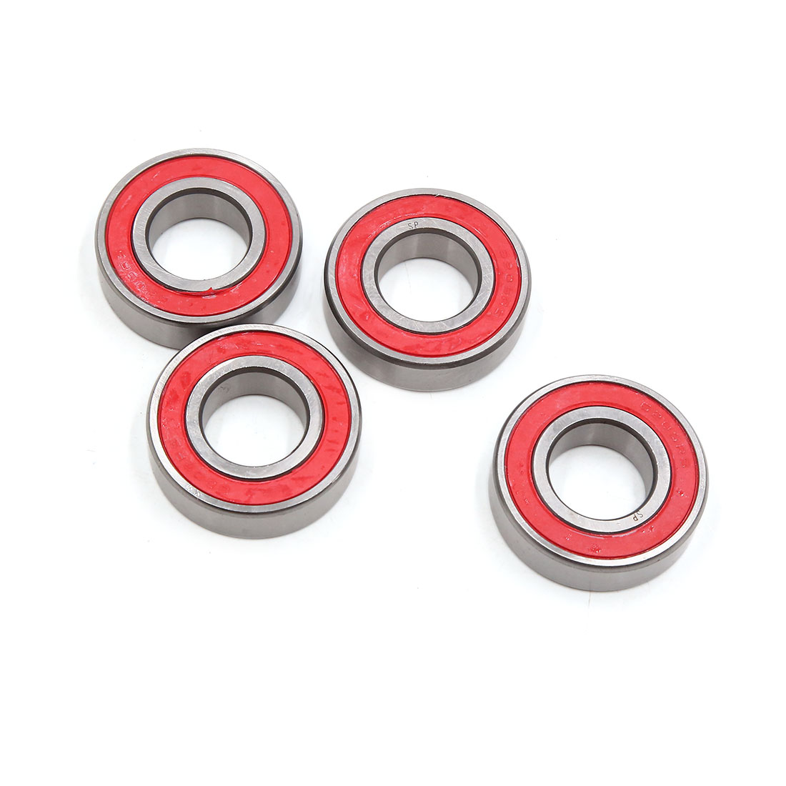 4pcs 6205-2RS Scooter Motorcycle Sealed Deep Groove Ball Bearing 52 x 25 x 15mm