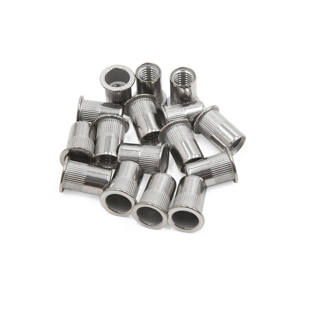 16pcs M10 304 Stainless Steel Flat Head Rivet Nut Insert for Car Vehicle
