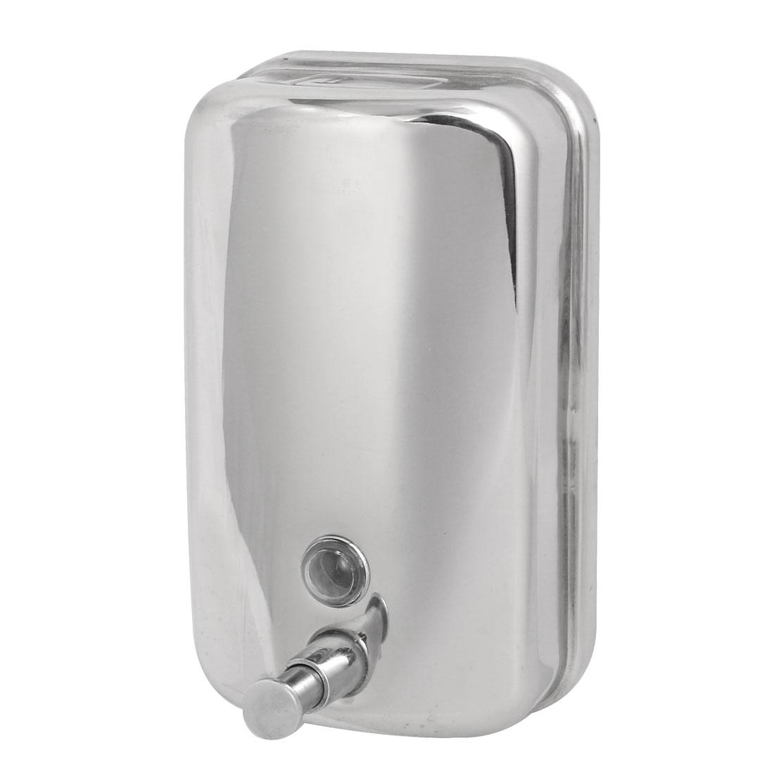 Stainless Steel 1000ML Wall-Mount Bathroom Liquid Soap Dispenser Silver Tone