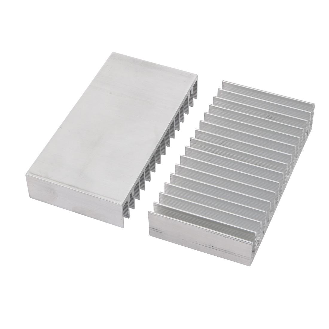 2pcs Aluminum Heat Diffuser Heatsink Cooling Fin 100mmx52mmx18mm for LED Lamp