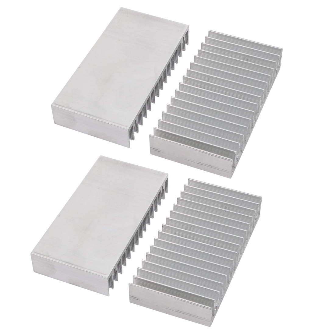 4pcs Aluminum Heat Diffuser Heatsink Cooling Fin 100mmx52mmx18mm for LED Lamp