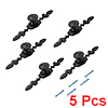 Single Hole Zinc Alloy 4-23/32-inch Length Pull Handle Flat Black 5pcs