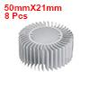 8pcs Aluminum Heat Diffuser Heatsink Radiator Cooling Fin 50mmX21mm for Led Lamp