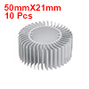 10pcs Aluminum Heat Diffuser Heatsink Radiator Cooling Fin 50mmX21mm for Led Lamp