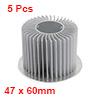 5pcs Aluminum Heat Diffuser Heatsink Radiator Cooling Fin 60mm Dia for Led Lamp