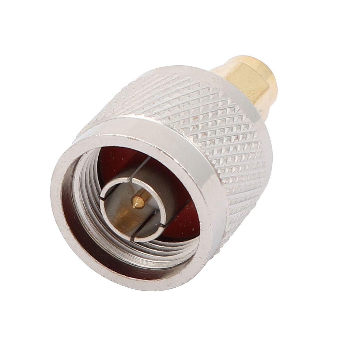 SMA Male to N Type Male M/M Adapter RF Coaxial Cord Connector Silver Tone