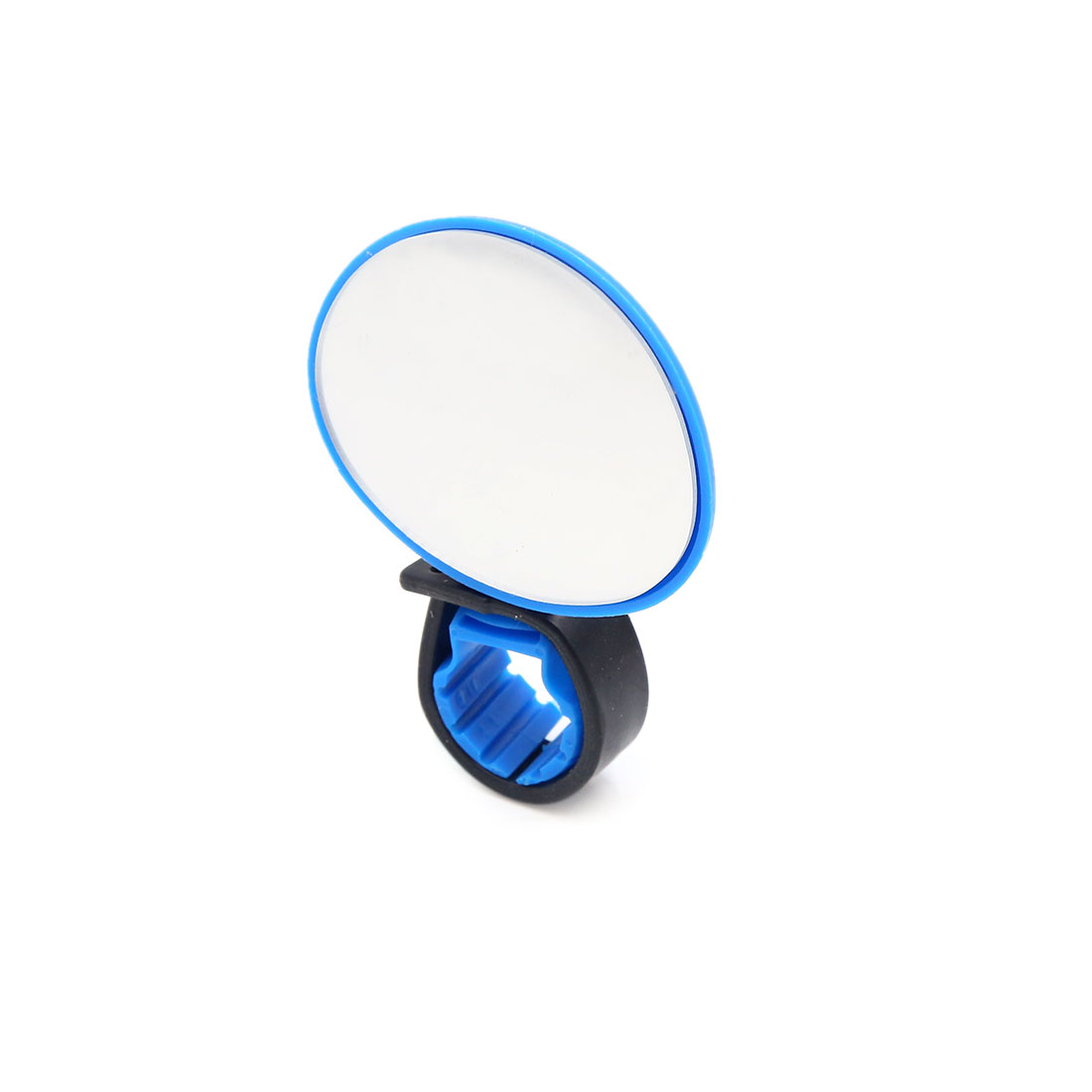 Mini Rotaty Handlebar Mount Convex Rearview Mirror Blue for Road Bike Bicycle