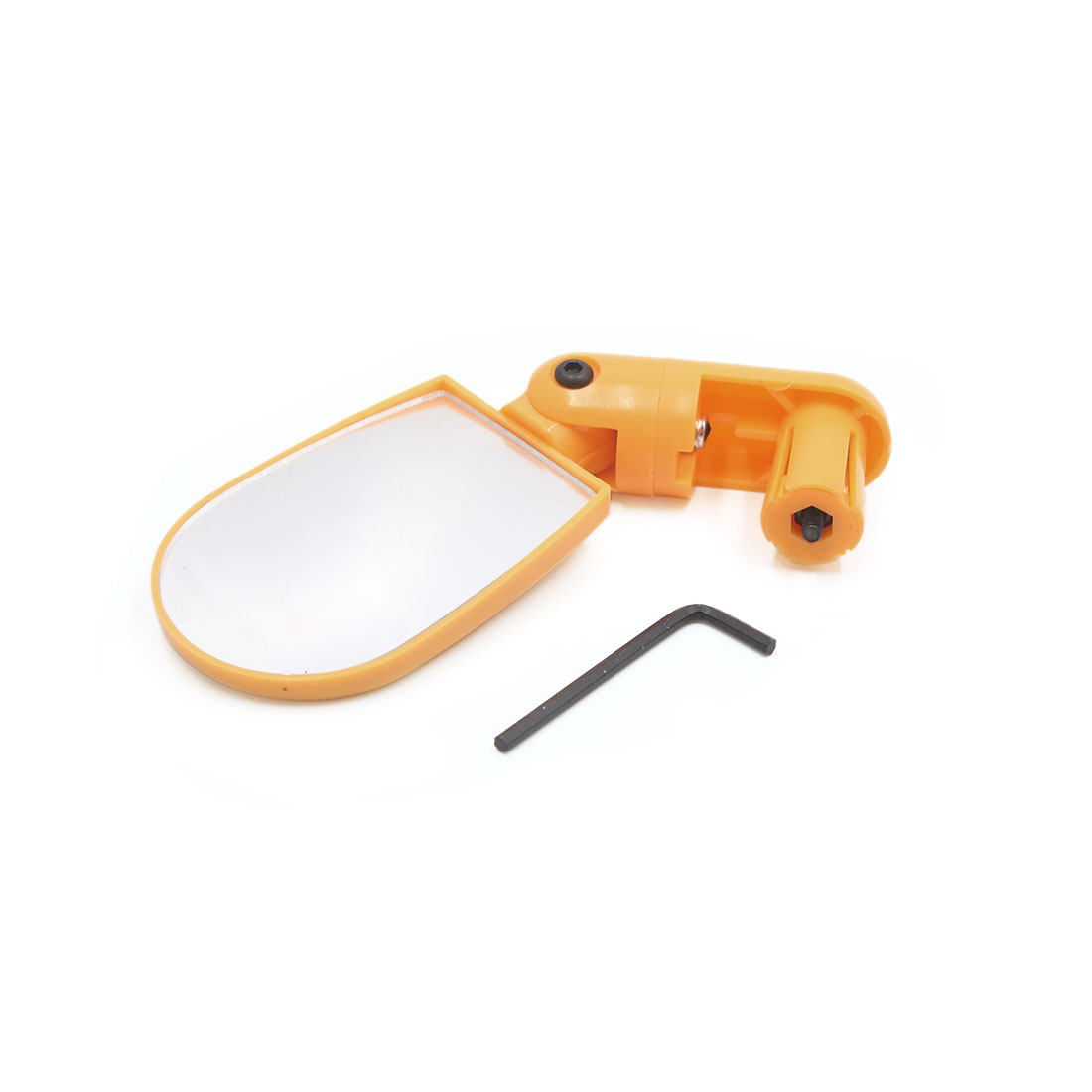 Adjustable Handlebar Back End Mount Rearview Mirror Yellow for Bicycle Bike