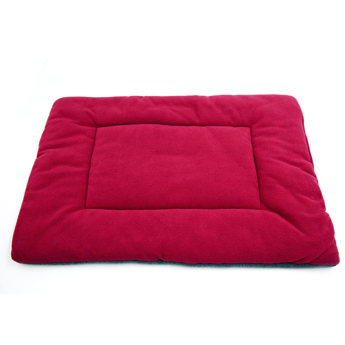 Fleece Reversible Mat Cushion Pad Bed for Dog Cat Puppy Pet Burgundy S
