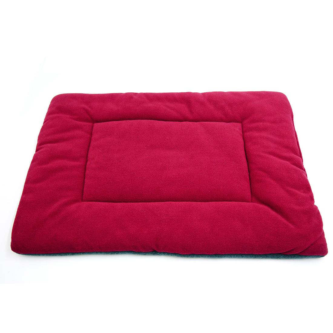 Fleece Reversible Mat Cushion Pad Bed for Dog Cat Puppy Pet Burgundy M