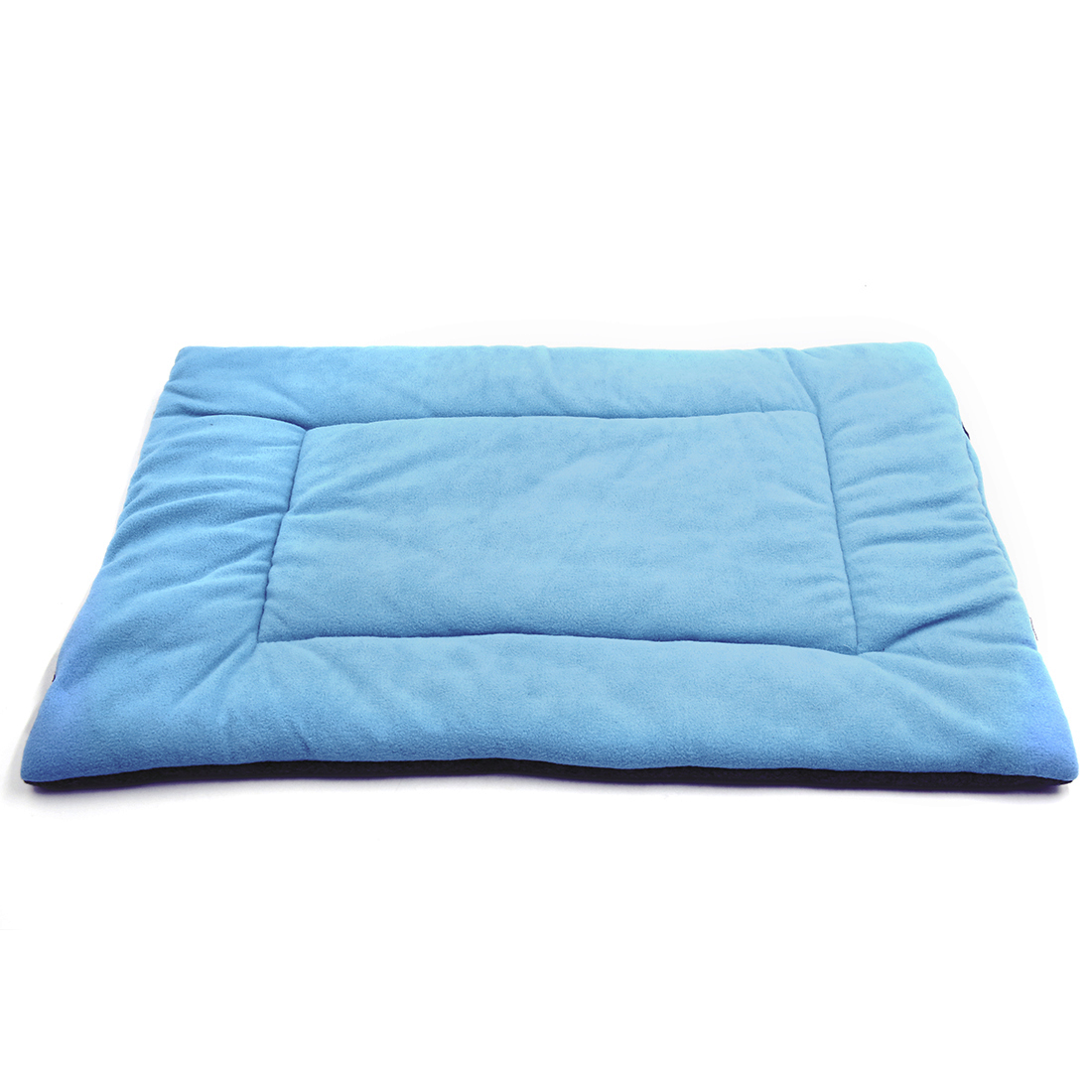Fleece Reversible Mat Cushion Pad Bed for Dog Cat Puppy Pet Light Blue S