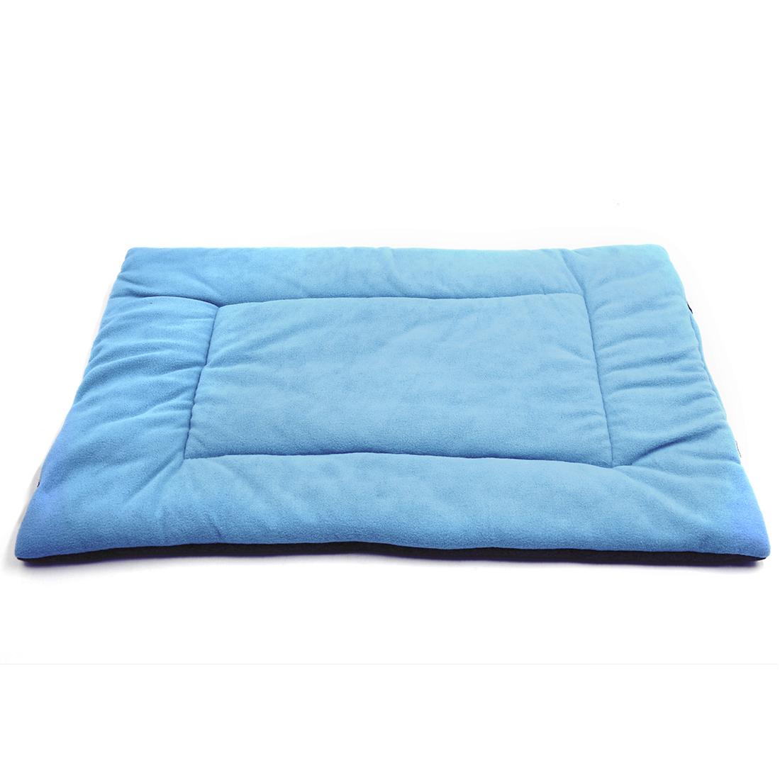 Fleece Reversible Mat Cushion Pad Bed for Dog Cat Puppy Pet Light Blue M