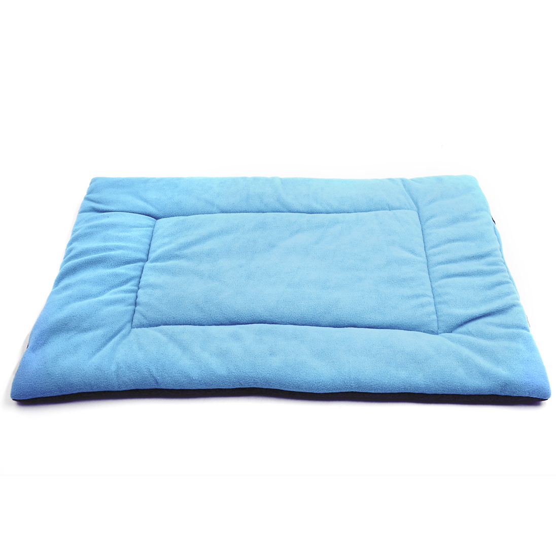 Fleece Reversible Mat Cushion Pad Bed for Dog Cat Puppy Pet Light Blue L