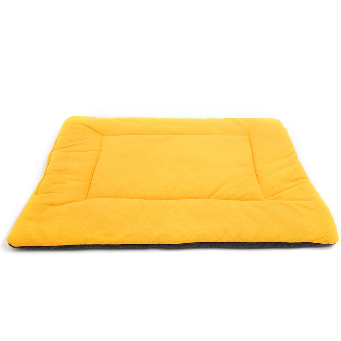 Fleece Reversible Mat Cushion Pad Bed for Dog Cat Puppy Pet Yellow M