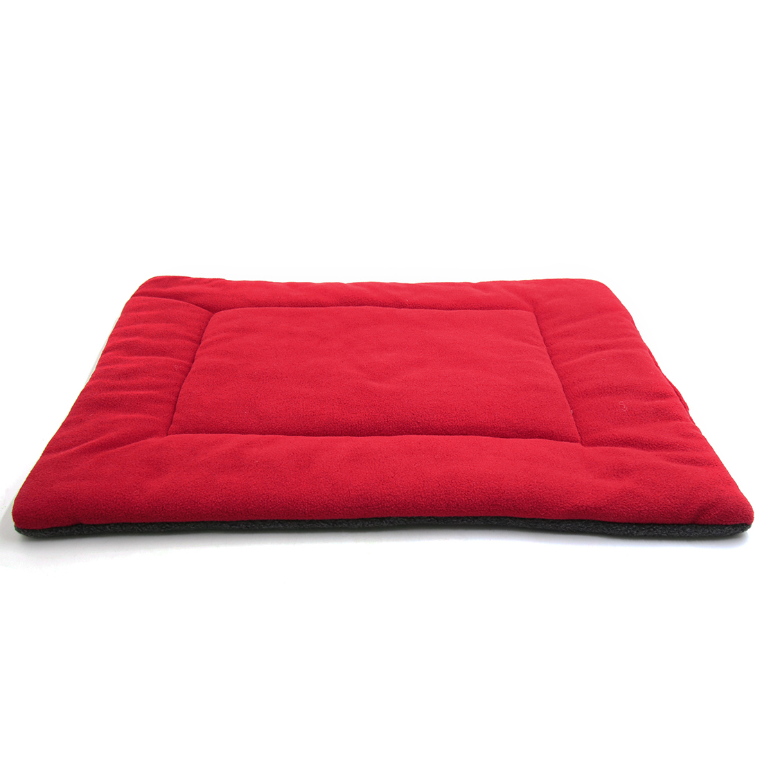 Fleece Reversible Mat Cushion Pad Bed for Dog Cat Puppy Pet Red S