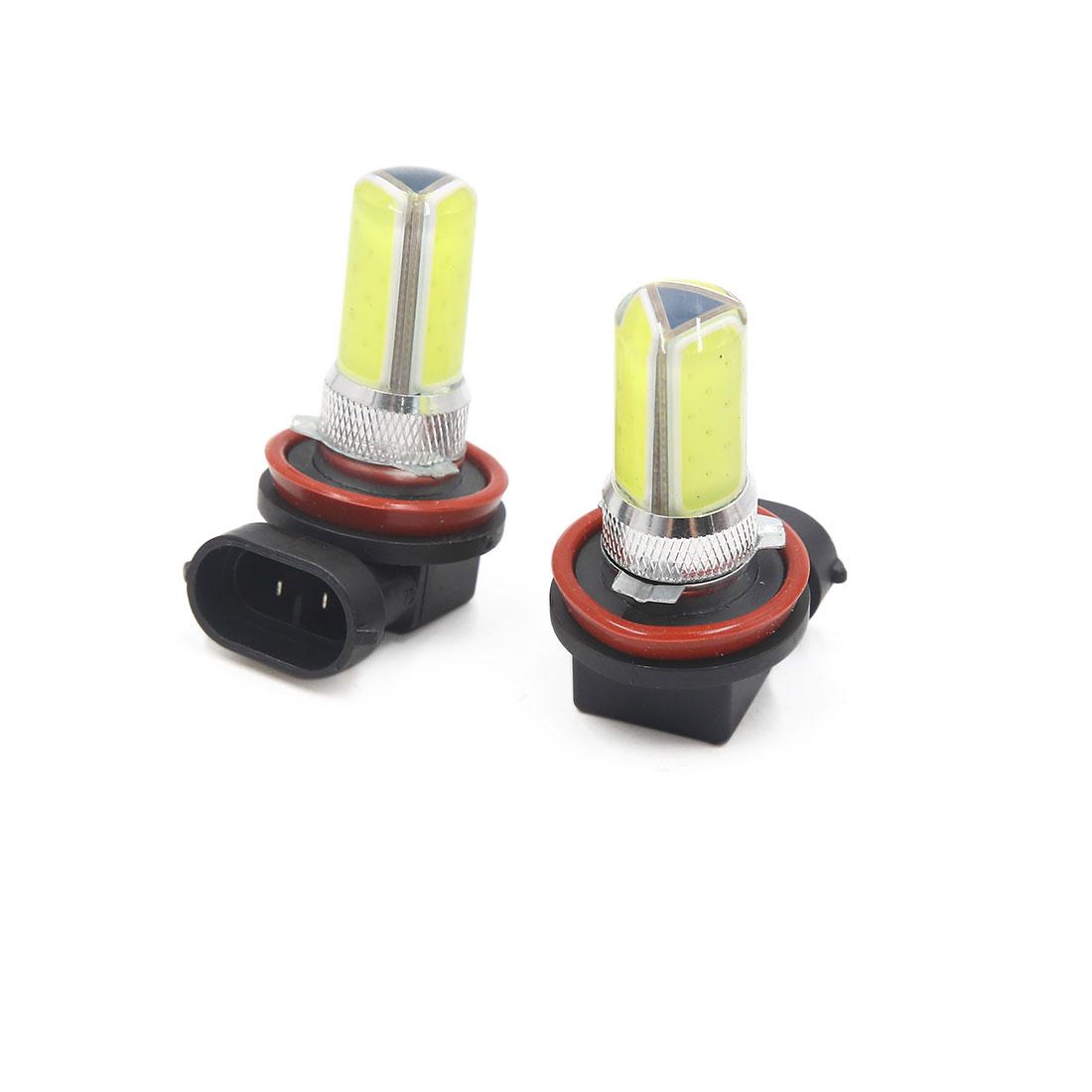 2pcs H11 3 White COB LED Fog Light Headlight Driving Lamp Bulb for Car Auto