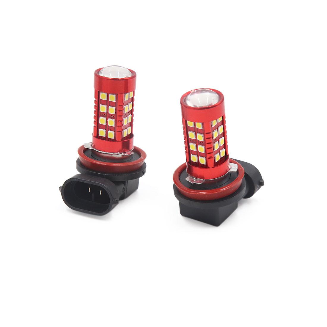 2pcs H11 3030 SMD 36 White LED Fog Light Headlight Driving Lamp Bulb for Car