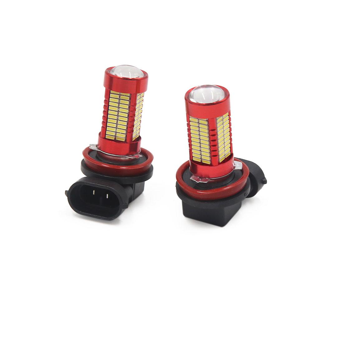 2pcs H11 4014 SMD 106 White LED Fog Light Headlight Driving Lamp Bulb for Car