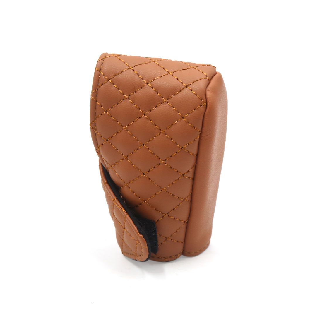 Universal Brown Faux Leather Shift Knob Cover Protective Sleeve for Auto Car