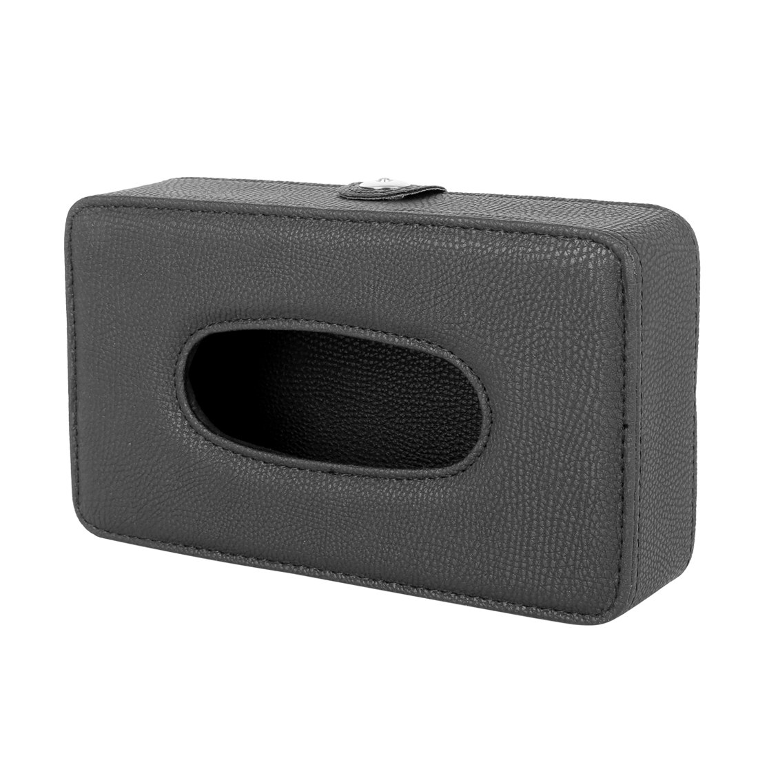 Black Car Faux Leather Sun Visor Tissue Napkin Paper Holder Storage Box