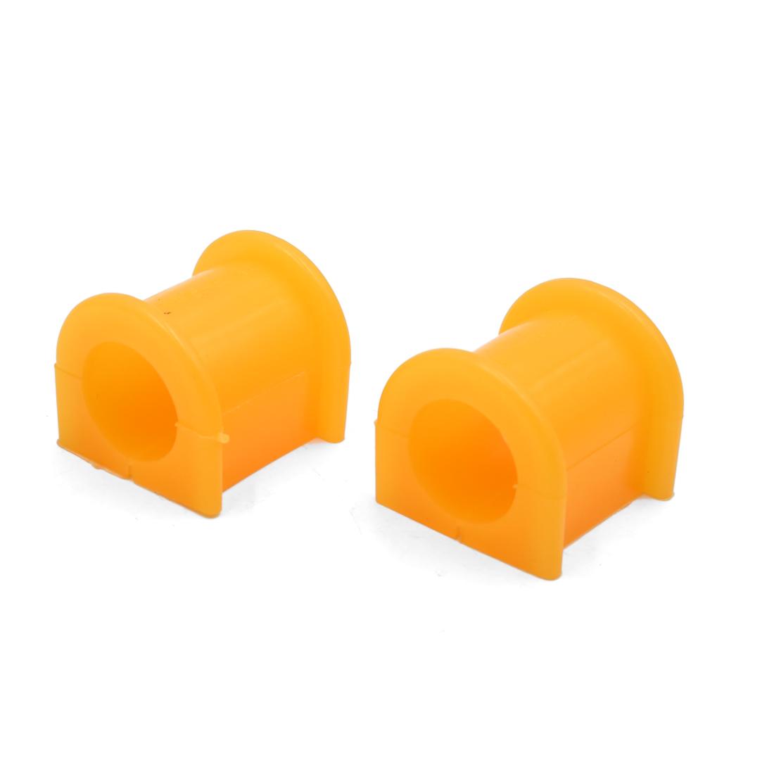 2Pcs 25mm Inner Dia Orange Rubber Shock Absorber Bushings Damper for Auto Car