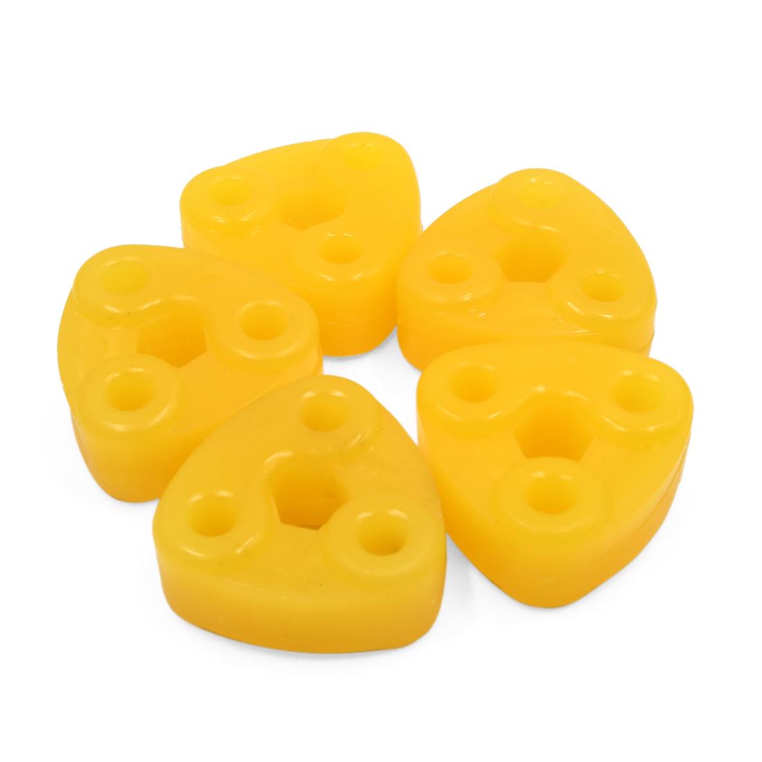 5Pcs Triangle Orange Rubber Shock Absorber Bushings Damper for Auto Car