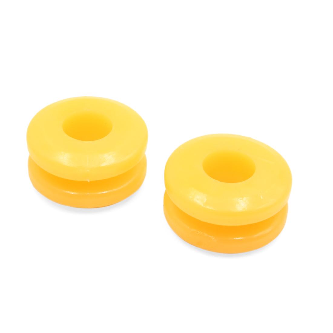 2Pcs 52 x 21 x 16mm Orange Rubber Shock Absorber Bushings Damper for Auto Car