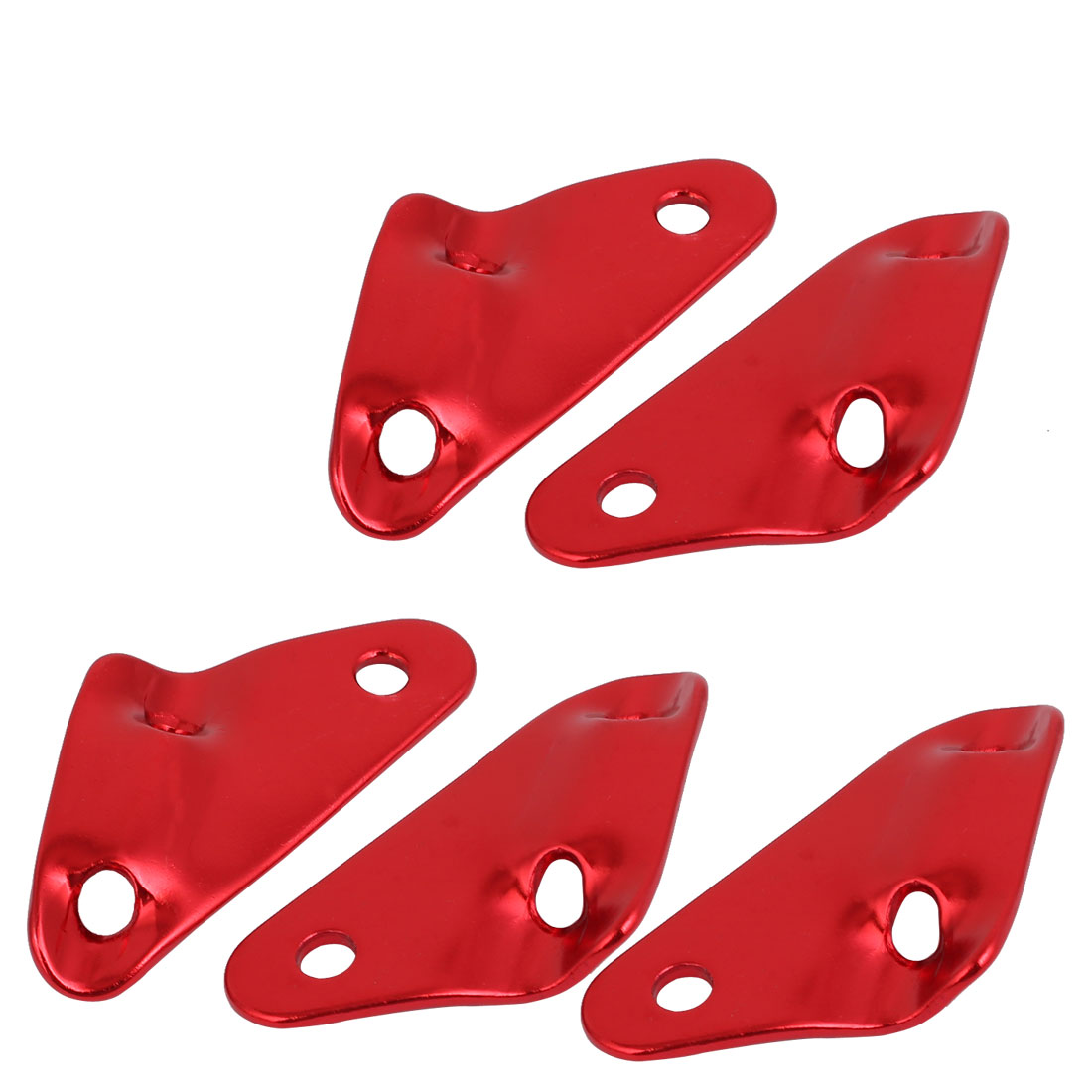 Aluminum Alloy Triangle Shaped Tent Rope Buckle Guyline Cord Adjuster Red 5pcs