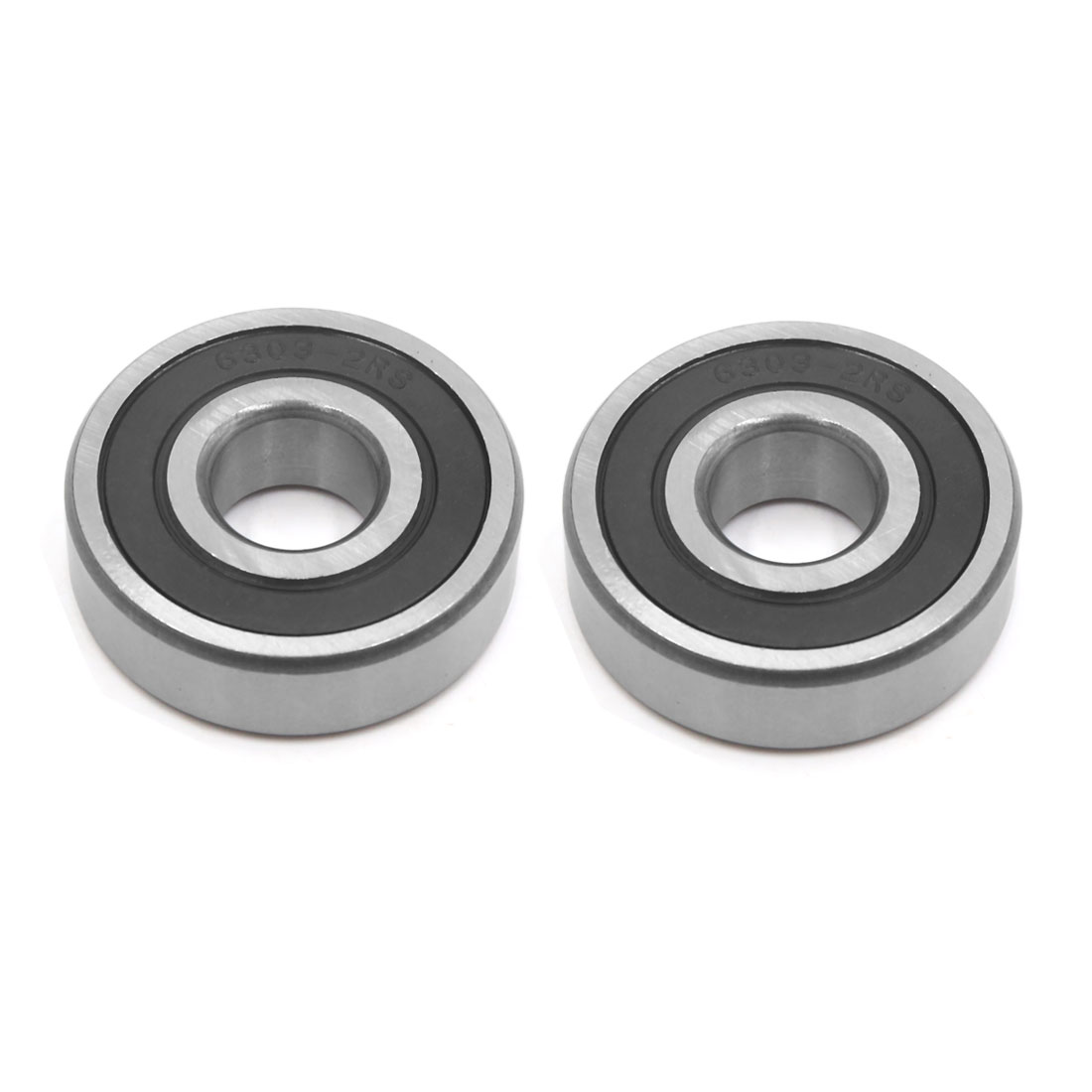 2Pcs 6303-2RS Metal Motorcycle Deep Groove Radial Ball Bearing 47 x 17 x 14mm