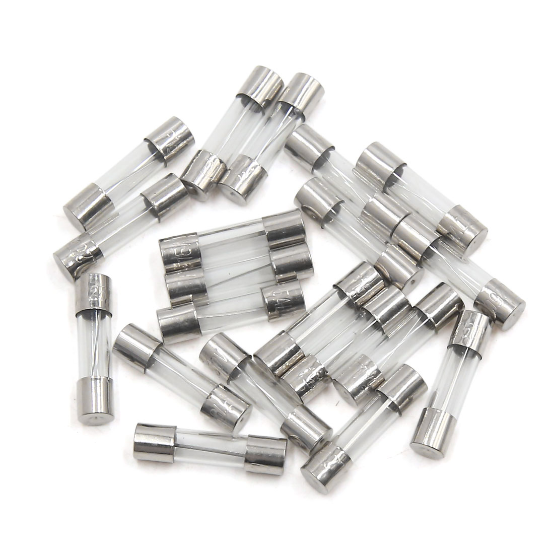 Universal 20Pcs 5 x 20mm 15A Fast Blow Type Glass Tube Fuse for Car Vehicle