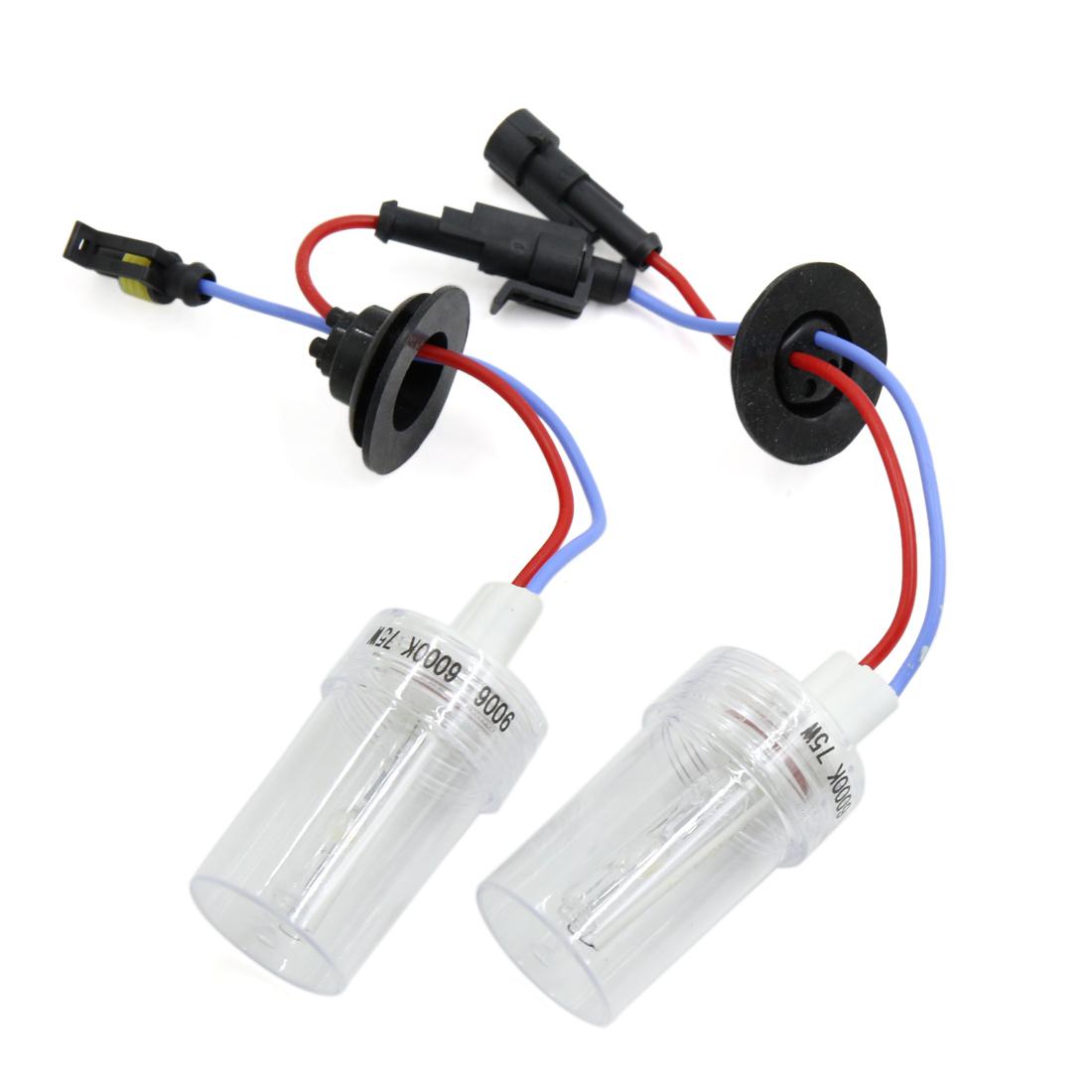 2PCS 6000K 75W 9006 HB4 HID Xenon Headlamp Lamp Light Bulbs for Auto Car