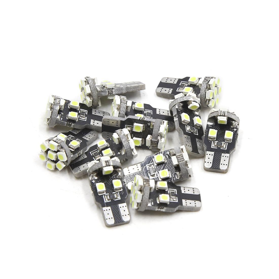 12Pcs T10 White 13 1210-SMD Canbus LEDs Car Panel Light Interior W5W 192 158 194