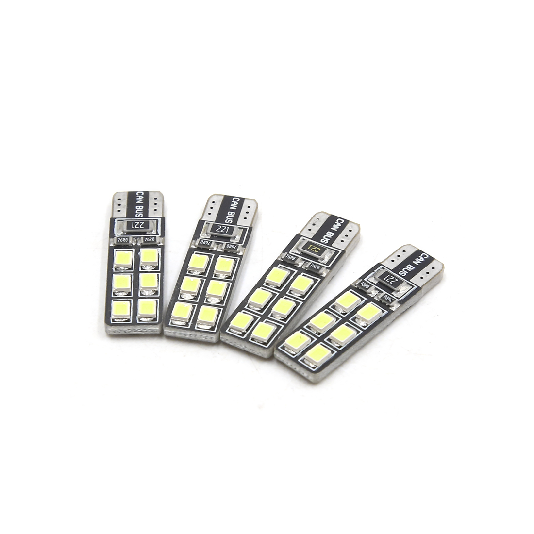 4Pcs T10 White 12 1210-SMD Canbus LEDs Car Panel Light Interior W5W 192 158 194