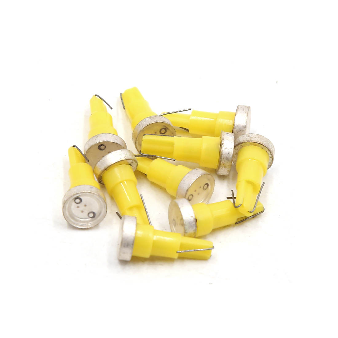 10Pcs T5 1W Yellow LED Car Dashboard Panel Light Interior 74 79 85 86 206 207