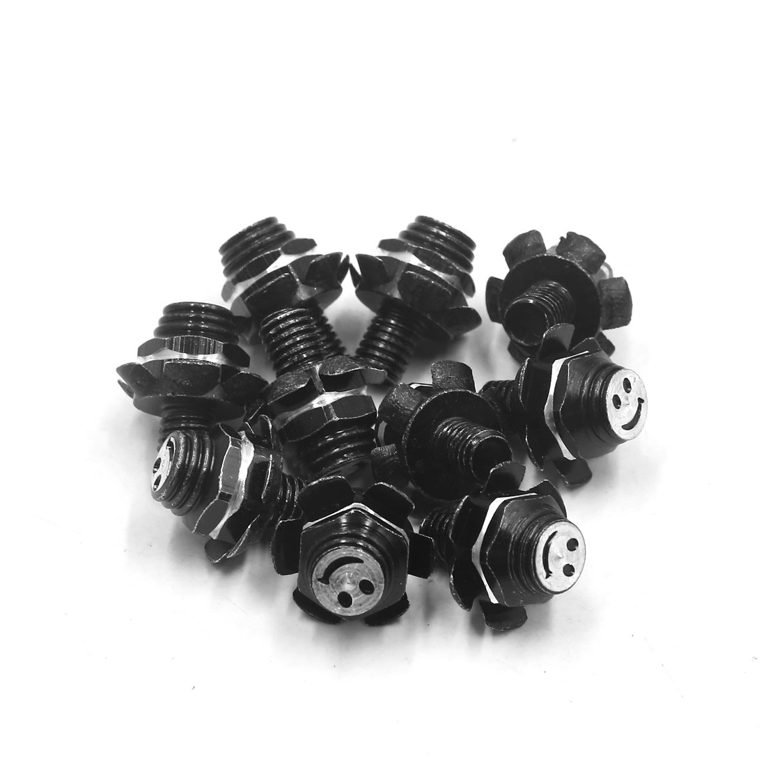 10Pcs M8 x 10mm Flower Shape Motorcycle License Plate Screw Bolts Fastener Black